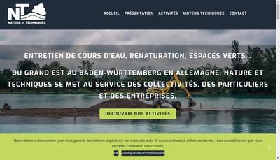Site internet de Nature et Techniques