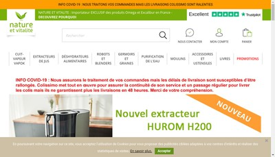 Site internet de La Boutique Nature et Vitalite