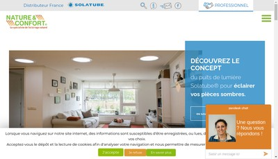 Site internet de Nature & Confort