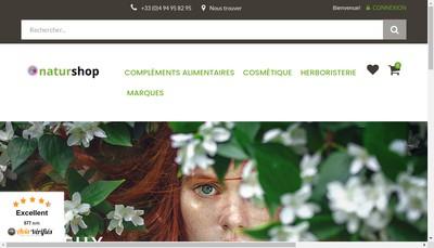 Site internet de Naturshop