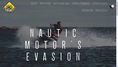 Site internet de Nautic Motor'S Evasion