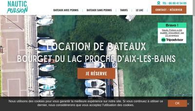 Site internet de Nautic Pulsion