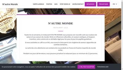 Site internet de N'Autre Monde