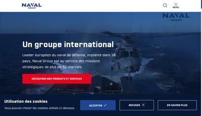 Site internet de Naval Group