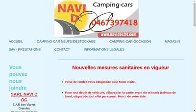 Site internet de Navi d'Oc