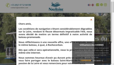 Site internet de Naviloire