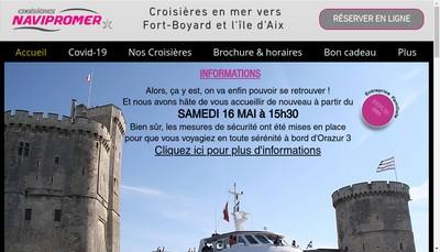Site internet de Croisieres Navipromer