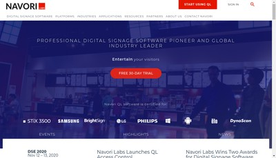 Site internet de Navori
