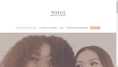 Site internet de Nayla Beauty Lounge