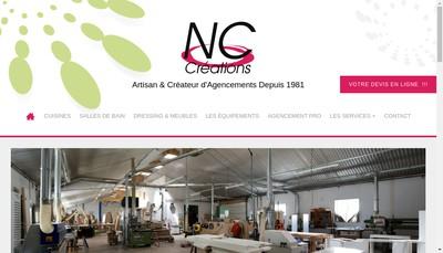 Site internet de Nc Creations