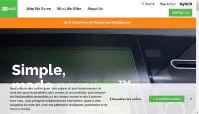 Site internet de Ncr France
