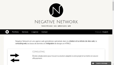 Site internet de Negative Network