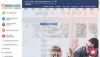 Site internet de Neghome Courtage Assurance&Rachats de Credits