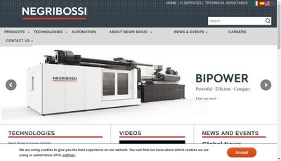 Site internet de Negri Bossi France