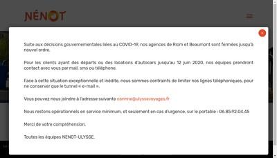Site internet de SARL Nenot Intertourisme