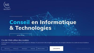 Site internet de Neo-Soft Participations