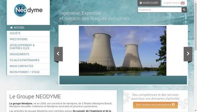 Site internet de Neodyme