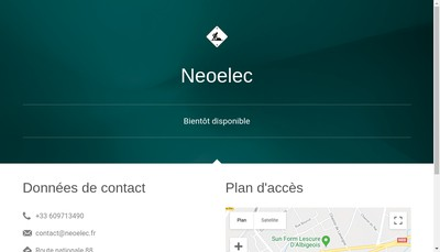 Site internet de Neoelec