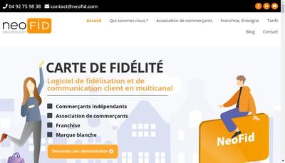 Site internet de Neofid Technology