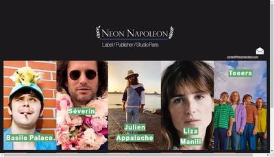 Site internet de Neon Napoleon