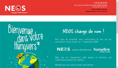 Site internet de Neos