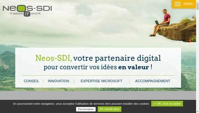 Site internet de Neos Software Developpement Integration