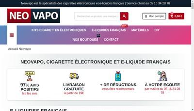Site internet de Neovapo
