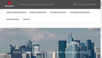 Site internet de Neovent Travel