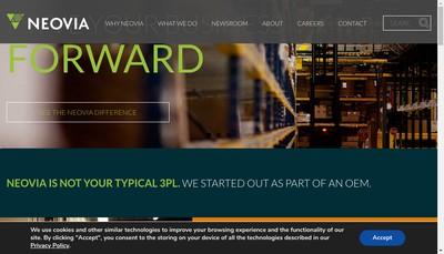 Site internet de Neovia Logistics Services (France)