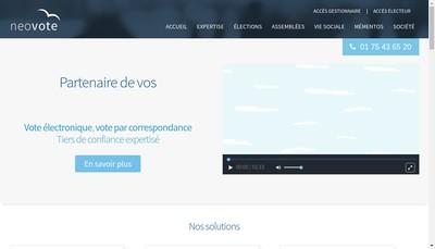 Site internet de Neovote
