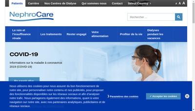 Site internet de Nephrocare