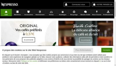 Site internet de Nespresso France