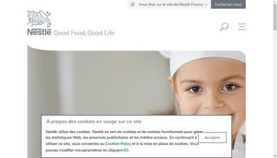 Site internet de Nestle France Force de Vente