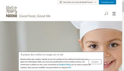 Site internet de Nestle Holding France