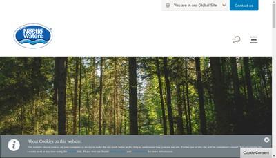 Site internet de Nestle Waters