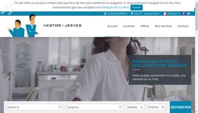Site internet de Ashley & Parker Nestor & Jeeves Appartements et Villas