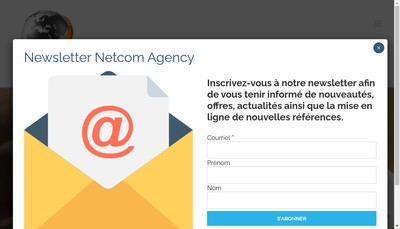 Site internet de Netcom Agency