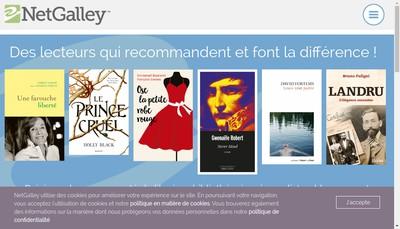 Site internet de Netgalley France