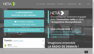 Site internet de Netia