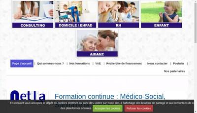 Site internet de Netilia-Formation