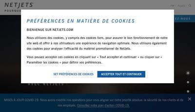 Site internet de Netjets (France) SARL