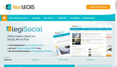 Site internet de Legisocial, Legifiscal, Legicommerce, Legicontrat
