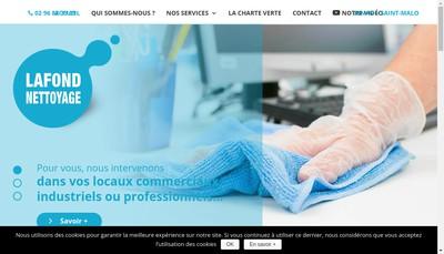Site internet de Lafond Nettoyage