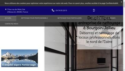 Site internet de Dauphi ' Alpes Nettoyage