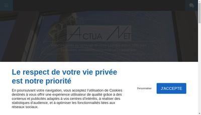 Site internet de Actua Net