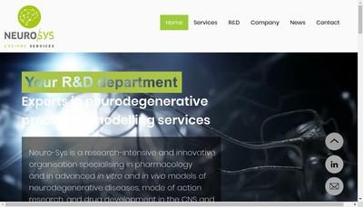 Site internet de Neuro-Sys