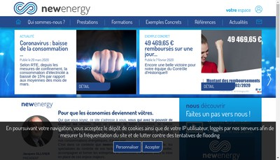 Site internet de New Energy