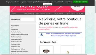 Site internet de New Perle