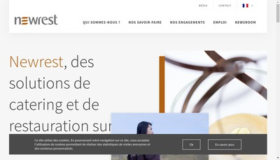 Site internet de Newrest Services & Support
