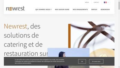 Site internet de Newrest Nice